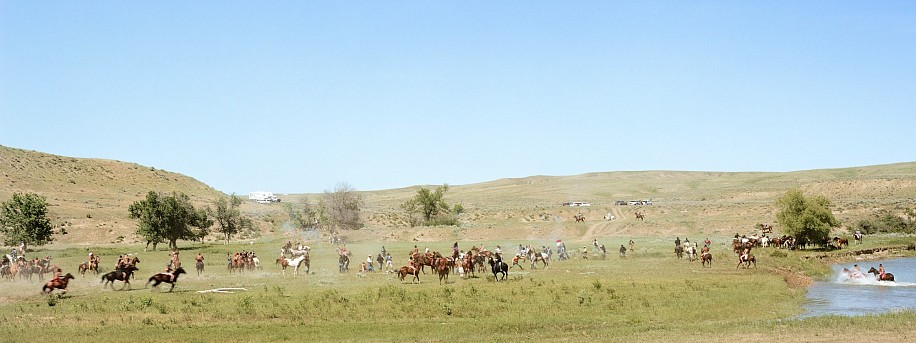 EDIE WINOGRADE, BATTLE ON THE LITTLE BIGHORN FINALE (CROW AGENCY, MONTANA) ED 10 pigment print