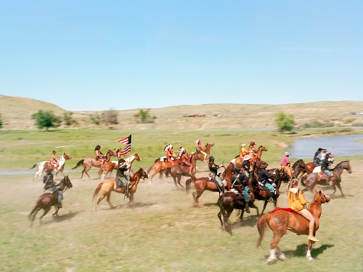 EDIE WINOGRADE, BATTLE ON THE LITTLE BIGHORN I, CROW AGENCY, MONTANA 1/10 pigment print