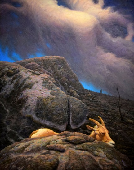 CHUCK FORSMAN, LITTLE BIG HORN oil on panel