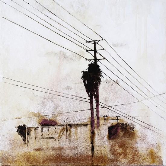 KAREN KITCHEL, ENERGY STUDY #1 asphalt emulsion, mixed media, shellac on canvas