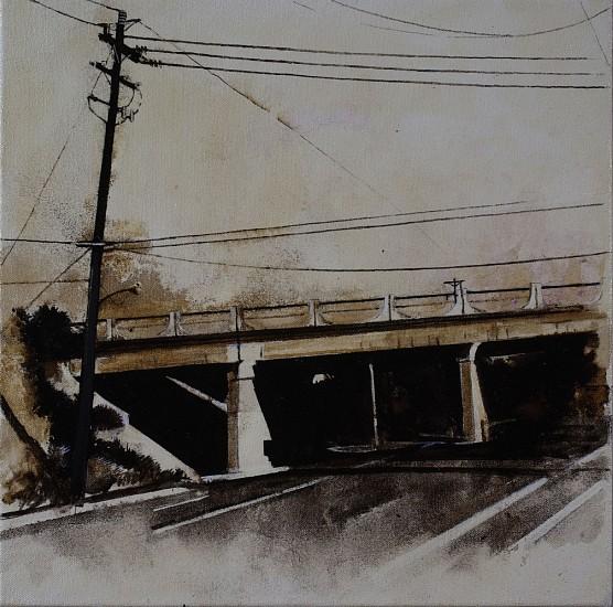 KAREN KITCHEL, ENERGY STUDY #5 asphalt emulsion, mixed media, shellac on canvas