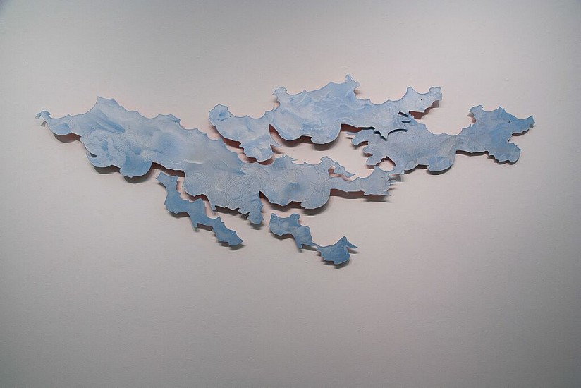 KATY STONE, ARCHIPELAGO 1/2 oil on aluminum