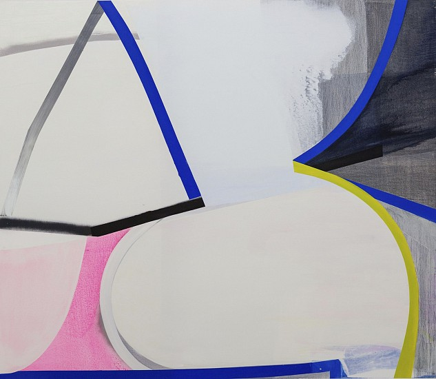 MARCELYN MCNEIL, SLICED, DICED, SCATTED AND CHUNKED oil and spray on canvas