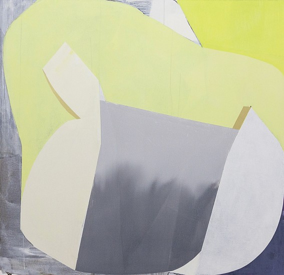 MARCELYN MCNEIL, YELLOW GOLD GREY oil on canvas