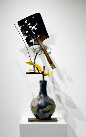 DAVID KIMBALL ANDERSON, FALL AFTERNOON painted steel, bronze, and found object