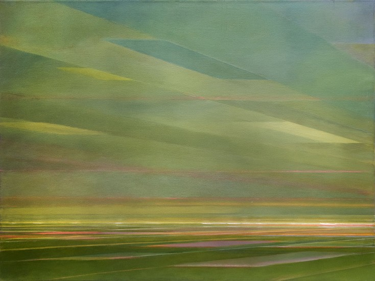PETER DI GESU, THERE'S A LOT OF WIND IN WYOMING oil on canvas