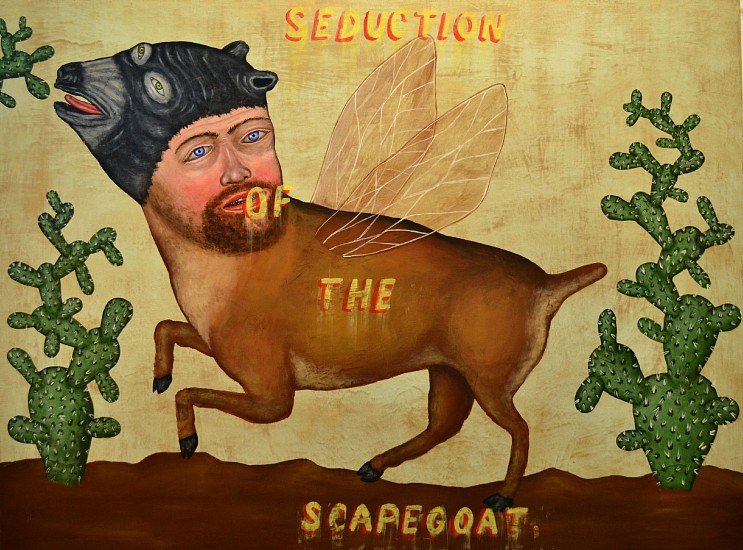 FRED STONEHOUSE, SCAPEGOAT acrylic on panel