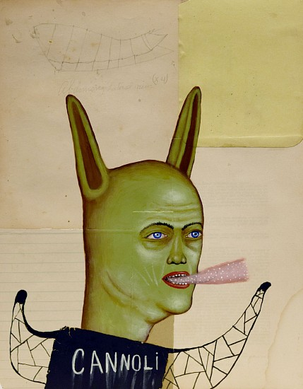 FRED STONEHOUSE, CANNOLI acrylic and collage on paper