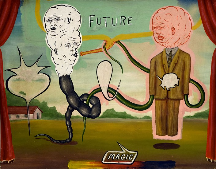 FRED STONEHOUSE, FUTURE MAGIC acrylic on paper