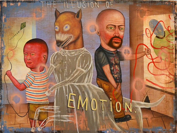 FRED STONEHOUSE, ILLUSION OF EMOTION acrylic on panel