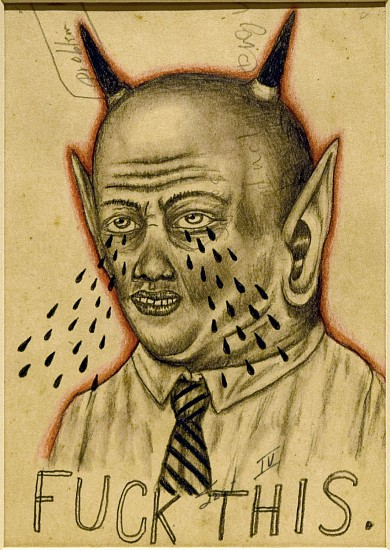 FRED STONEHOUSE, FUCK Graphite on Paper
