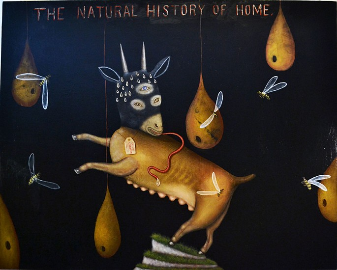 FRED STONEHOUSE, THE NATURAL HISTORY OF HOME acrylic on canvas