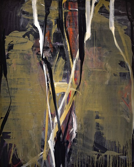 TOM LIEBER, TAN OVER BLACK oil on canvas