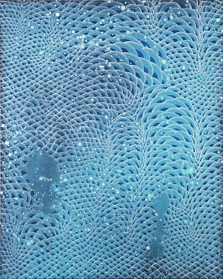 BARBARA TAKENAGA, AQUAMARINE 2 acrylic on linen
