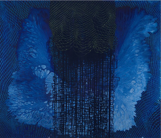 BARBARA TAKENAGA, BLUE (A) acrylic on linen