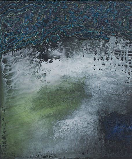 BARBARA TAKENAGA, GREEN SPOT acrylic on linen