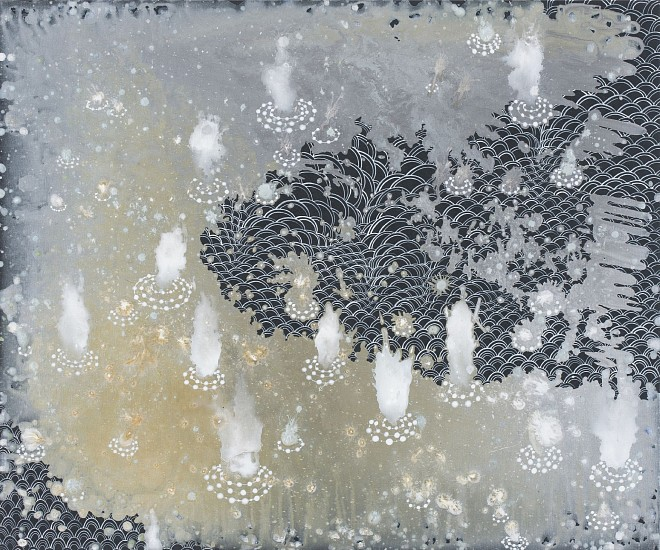 BARBARA TAKENAGA, MORE SMALL SPRINGS acrylic on wood panel