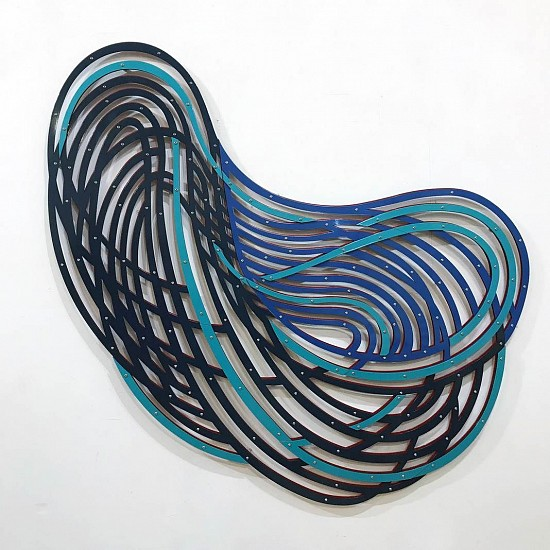 LINDA FLEMING, SWOOP (NIGHT HAWK) powder-coated steel