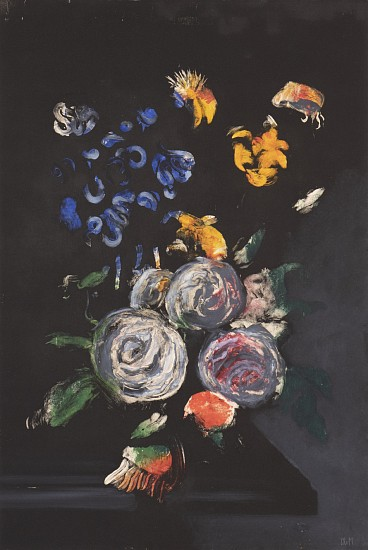 CHRISTIAN REX VAN MINNEN, COLOR STILL LIFE<br /> gouache on paper