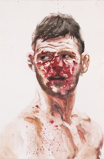 CHRISTIAN REX VAN MINNEN, FIGHTER 1 (BISPING) gouache on paper