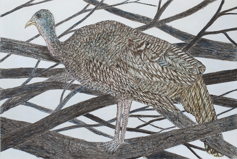KIKI SMITH, IN A BOWER  ed. 10/18 color etching and aquatint with hand coloring on Hahnemuhle bright white paper