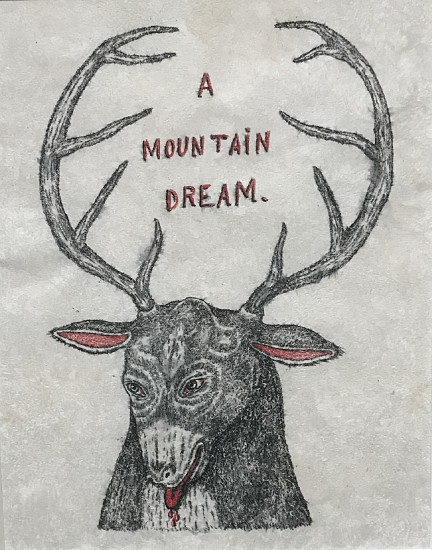 FRED STONEHOUSE, MOUNTAIN DREAM water soluble pencil and colored pencil on amate paper