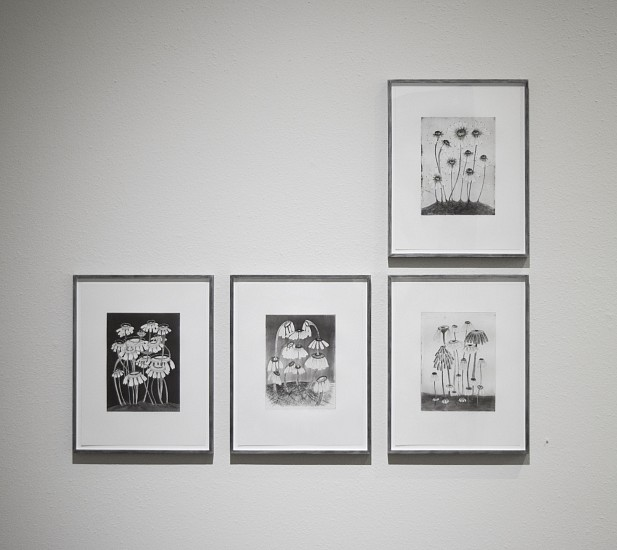 KIKI SMITH, VARIETY FLOWERS  H.C. 1/1 etching, aquatint and drypoint on Hahnemuhle bright white paper