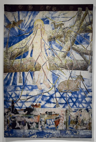 KIKI SMITH, CONGREGATION (GIRL WITH FOREST ANIMALS)  #5/10 cotton Jacquard tapestry