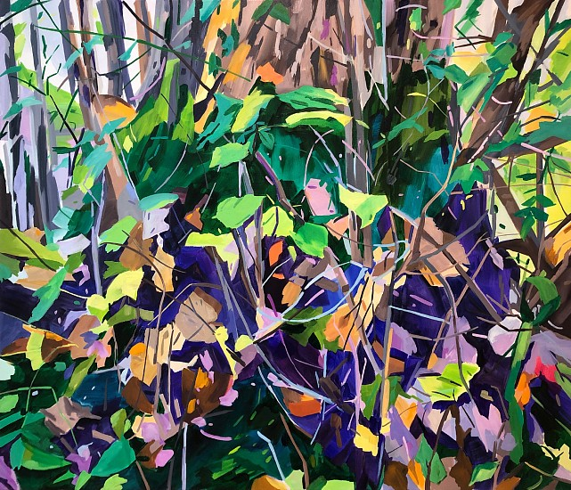 DIANE CARR, THICKET oil on canvas