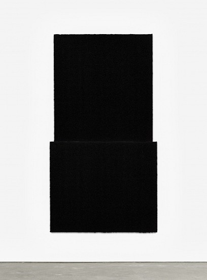 RICHARD SERRA, EQUAL V  Ed. 24 Paintstik and silica on two sheets of handmade paper