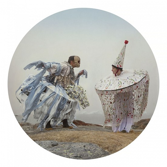 KAHN + SELESNICK, HOBBY HORSES A'COURTIN' SUNNY Ed. 5 archival pigment print face-mounted on round acrylic sheet