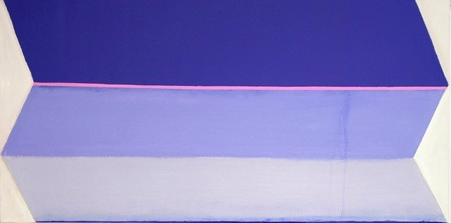 BETTY MERKEN, UNFOLDING ULTRAMARINE oil on canvas