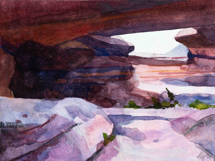 CLAIRE SHERMAN, ROCK SKYLIGHT mixed media on paper