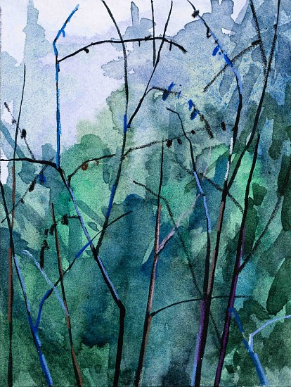 CLAIRE SHERMAN, BRANCHES mixed media on paper