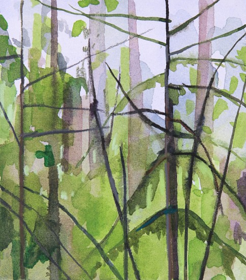 CLAIRE SHERMAN, TREES mixed media on paper