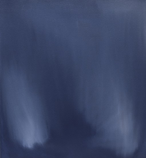 IAN FISHER, VEIL (WHITE ON BLUE) oil on canvas