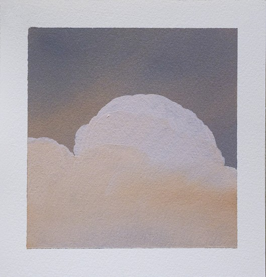 IAN FISHER, CLOUD STUDY 3 oil on paper