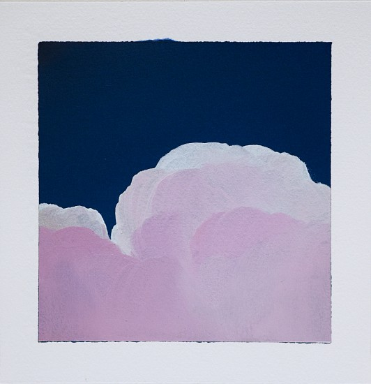 IAN FISHER, CLOUD STUDY 6 oil on paper