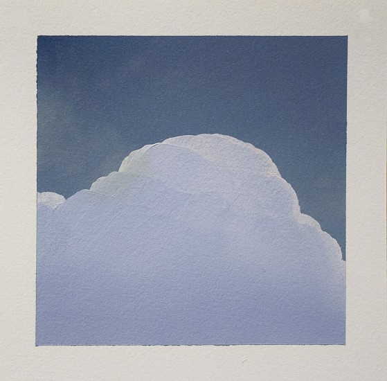 IAN FISHER, CLOUD STUDY 1 oil on paper