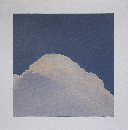IAN FISHER, CLOUD STUDY 4 oil on paper