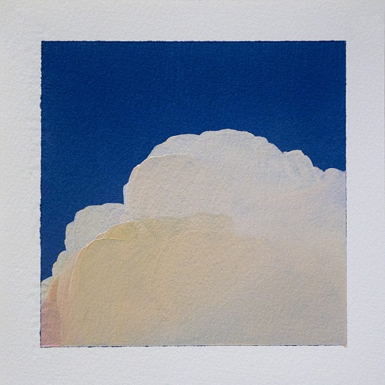 IAN FISHER, CLOUD STUDY 5 oil on paper