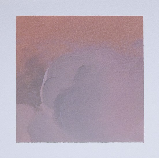 IAN FISHER, CLOUD STUDY 7 oil on paper
