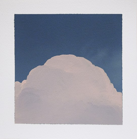 IAN FISHER, CLOUD STUDY 8 oil on paper