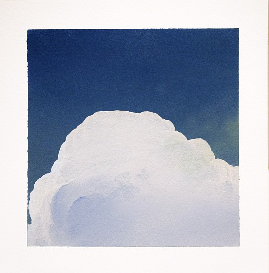 IAN FISHER, CLOUD STUDY 11 oil on paper