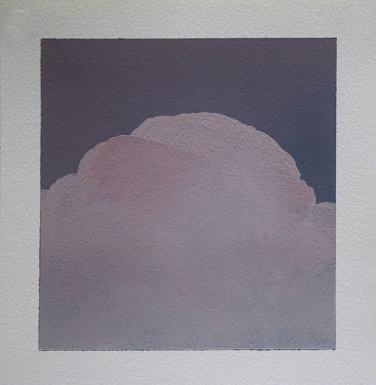 IAN FISHER, CLOUD STUDY 13 oil on paper