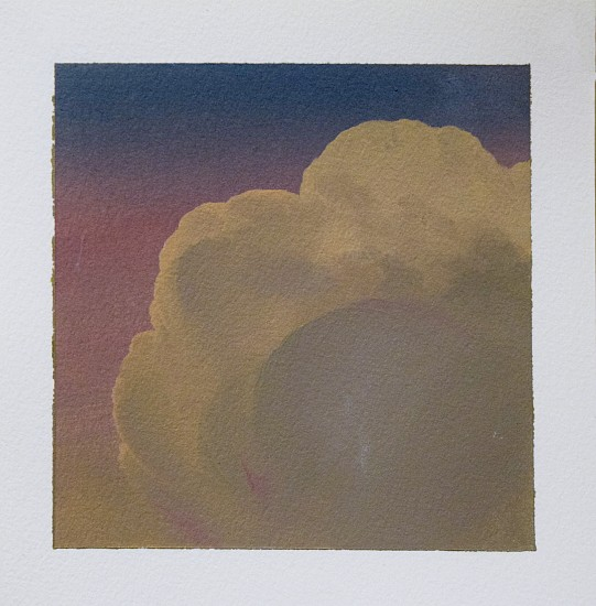 IAN FISHER, CLOUD STUDY 14 oil on paper