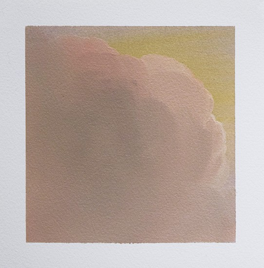 IAN FISHER, CLOUD STUDY 15 oil on paper