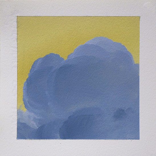IAN FISHER, CLOUD STUDY 16 oil on paper