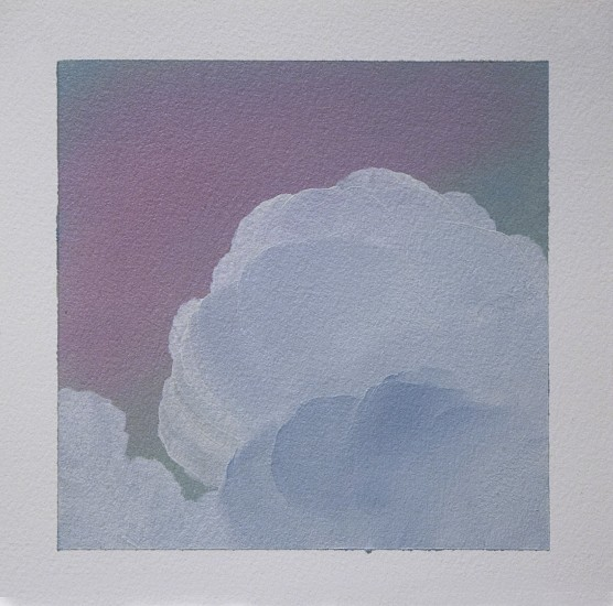 IAN FISHER, CLOUD STUDY 17 oil on paper