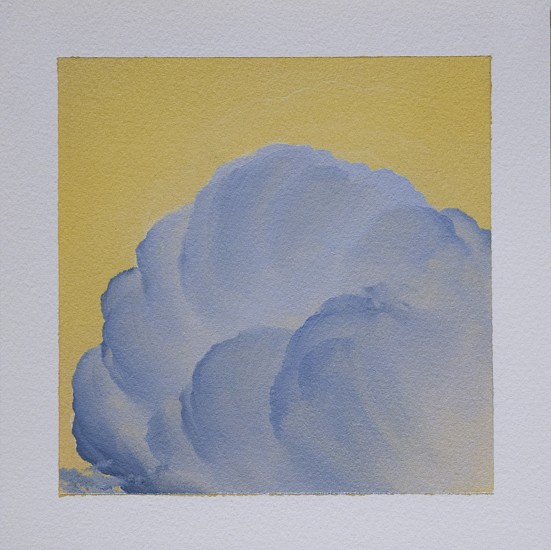 IAN FISHER, CLOUD STUDY 18 oil on paper